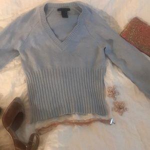 THE LIMITED Light Blue V-neck Sweater